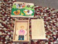 Set of First Wooden Puzzles