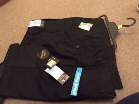 2 pairs of boys black trousers 9-10 years
