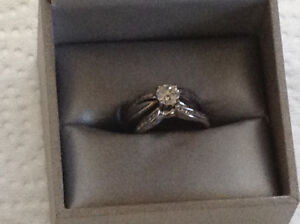 Wedding ring set with anniversary band