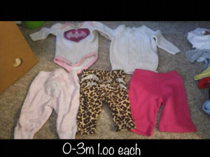 Assorted 0-6m clothing