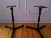 Pair of Konig and Meyer 26720 Monitor Stands