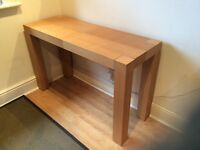 Beech Console Table and Coffee Table