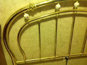 Queen Brass Headboard Kawartha Lakes Peterborough Area image 5