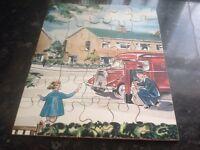 Vintage wooden jig saw puzzle