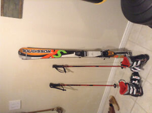 Junior Ski Set - Skis, Poles, And Boots ALL USED FINE CONDITION