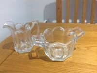 Vintage milk and sugar bowl