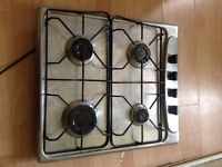 Candy stainless steel 4 ring gas hob