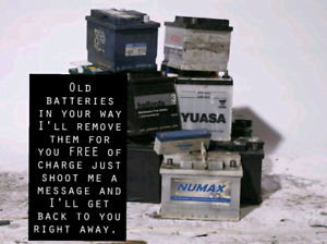 I'll remove your old batteries for free of charge.....