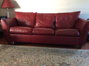 Leather Queen Size Fold Out Couch.