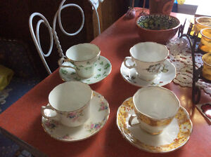 5 lovely bone china cups and saucers Kitchener / Waterloo Kitchener Area image 2