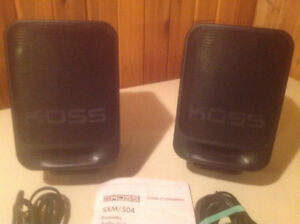 KOSS SXM/ 504 AUDIO/ VIDEO SPEAKERS ~ 30 WATTS/ SPEAKER