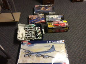 Big model kits and paint kit