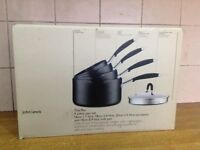 John Lewis 4 piece pan set