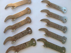 VINTAGE CANADA BUD BEER BREWERIES CHROME BOTTLE OPENERS