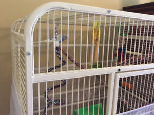 Large bird cage and 2 buggies for sale