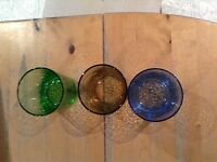 Coloured tumbler glasses