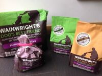 Wainwrights dry puppy food, 4 bags, approx 10kg