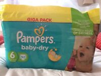 Pampers baby dry nappies giga pack 92 nappies
