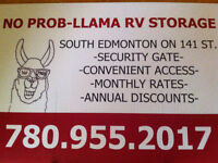Edmonton No Prob Llama RV Storage - Fall Fill-Up Special