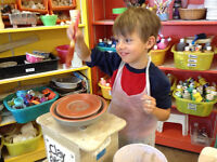 $99 Paint N Go Birthday Party at Clay for Kids