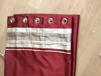 Red curtains 66x90