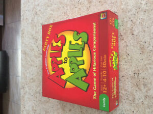 Scrabble flash and Apples to Apples games - Both great condition