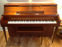Heintzman upright grand Piano  -canadian Steinway