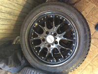 235/45/r17 Voxx rims with winter tires-Delivery can be arranged