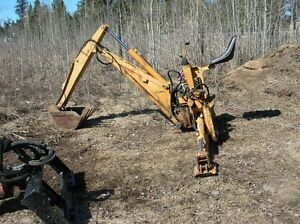 Skidsteer mount backhoe