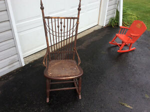 Antique rocking chair, solid, all joints tight Belleville Belleville Area image 1