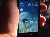Samsung Galaxy S3 cell phone with camera