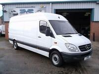2011 61 MERCEDES-BENZ SPRINTER 3.5T CDI LWB HIGH ROOF IN WHITE 107,000 MILES FSH