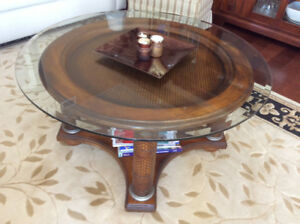 38 inch round coffee table