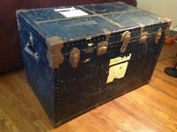 trunk vintage antique shipping
