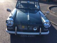 TRIUMPH HERALD 1200cc 1966 CLASSIC CAR MOT'D DEC 2017