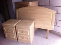 Hammonds Bedroom Matching Set - Five Chest of Drawers, Two Bedsides Cabinets and Double Headboard