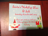 Santa's workshop show and sale