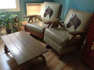 VINTAGE RETRO 1965 COUNTRY ROCKING CHAIRS