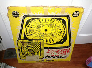 Vintage 1960's game set with crokinole for sale