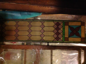 Antique Stain Glass Panel