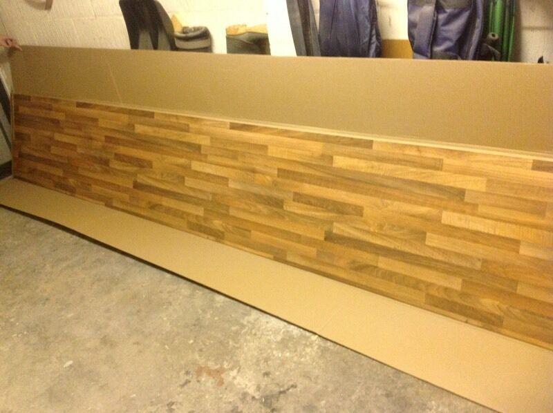 Decorative wood effect kitchen splash back | in Crosby, Merseyside ...