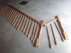 Rampe escalier en érable