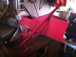 Vintage Open Sleigh Ride for child winter decor London Ontario image 2