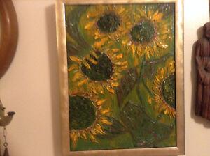 Beautiful Oil Painting Sunflower