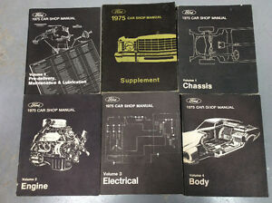 1975 Ford factory shop manuals.