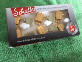 Schaller G series vintage style tulip tuning heads in gold