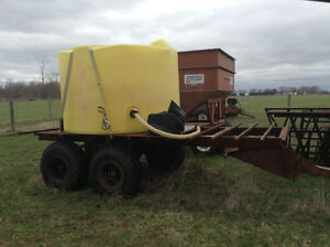 Water trailer tank and pump