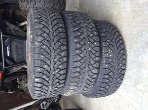 3 Nokian studded winter tires