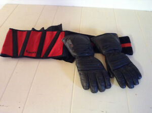 Snowmobile Gloves and Kidney Belt