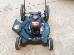 """MTD 22"""" 4.5hp with large rear wheels in excellent cond"""